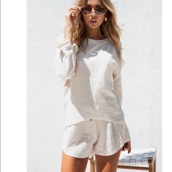 9afbe0d6fba Sabo Skirt Crema Ribbed Playsuit medium